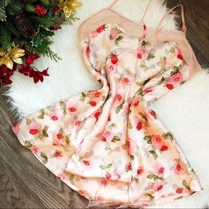 VINTAGE SILKY FLORAL SLIP DRESS
